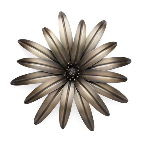 burnished flower wall decor - Metal Flower Wall Decor