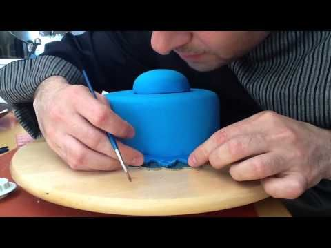 How to decorate a cake with royal icing neoclassical --> italian