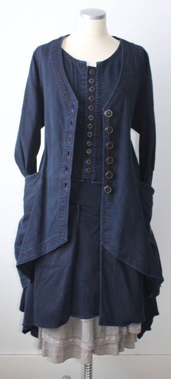 Indigo, buttons, layers and a cool jacket...KOMBINATIONER HÖST 2012 : Östebro