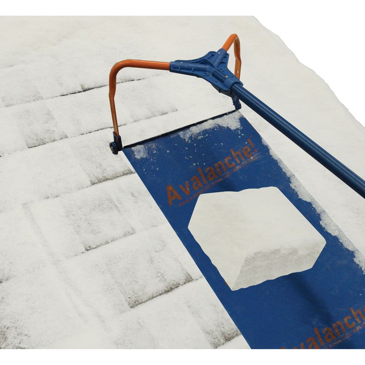 This Avalanche Wheeled Roof Rake Rolls Through Snow Removal Chores Twice As  Fast As Standard Roof Rakes. Wheels Protect Your Roof And Allow For Easier  ...