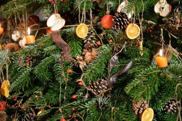 DIY Natürliche Weihnachtsbaumdekoration
