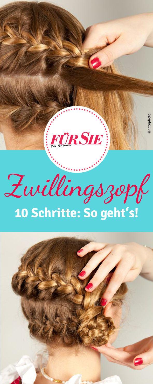 Traditionelle Tracht und schicke Frisur - hier finden Sie eine Step-by-Step-Anleitung für den Zwillingszopf!