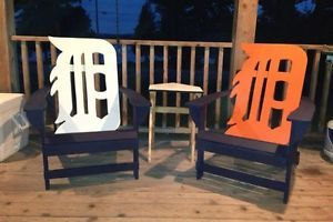 Custom Detroit Tigers Old English D Variation Adirondack Chair New ...