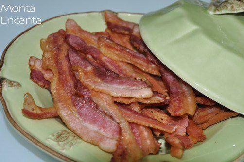 Bacon Sequinho e Crocante no microondas
