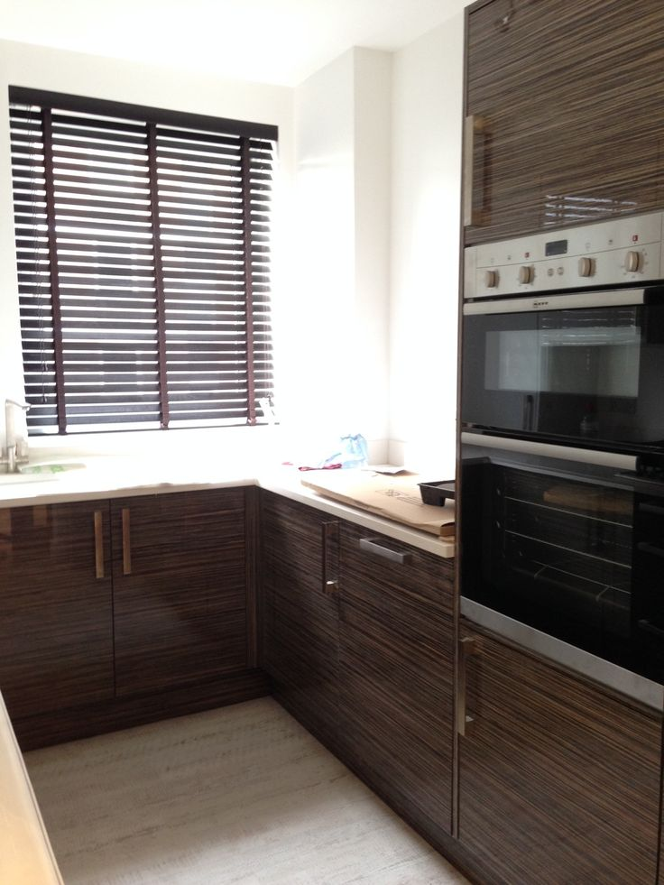 Wood Venetian Blinds In Ebony Supplied And Installed By The Blind Shop For A Newly Refurbished