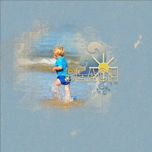 BEACH digital layout by Ona (aka wombat146) Created with Beached:The Kit by Allison Pennington at The Lilypad  http://the-lilypad.com/store/Beached-The-Kit.html