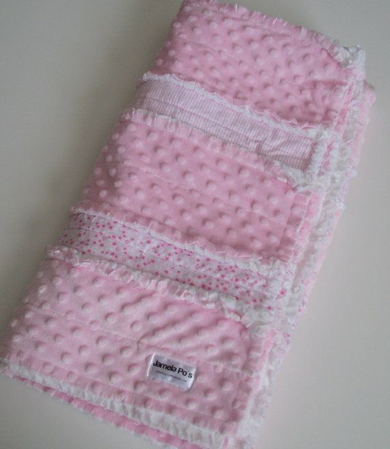 Rag Quilt Pink Minky: snuggle-worthy.