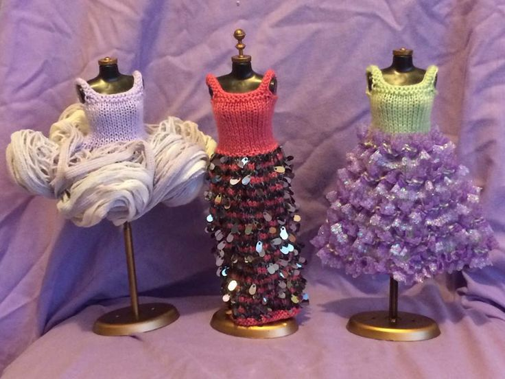 Three Hand-knit Barbie Dresses   Playtime Fun Market Night opens at 9pm, on Tuesday 28th April, 2014