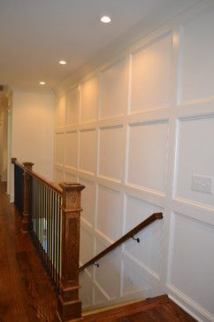 Board and batten stairs.