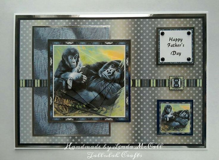 Father's Day card using Pollyanna Pickering World Wildlife from Creative Crafting World.