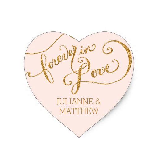 Envelope Seals Script Forever In Love Gold Glitter Wedding InvitationsWedding StickersWedding SetsThe PlannerSimple