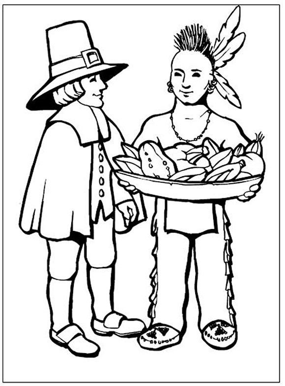 coloring pages for pilgrims - photo#7
