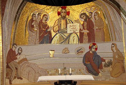 This mosaic is in  Ljubljana, Slovenia, Church of the all Saints.