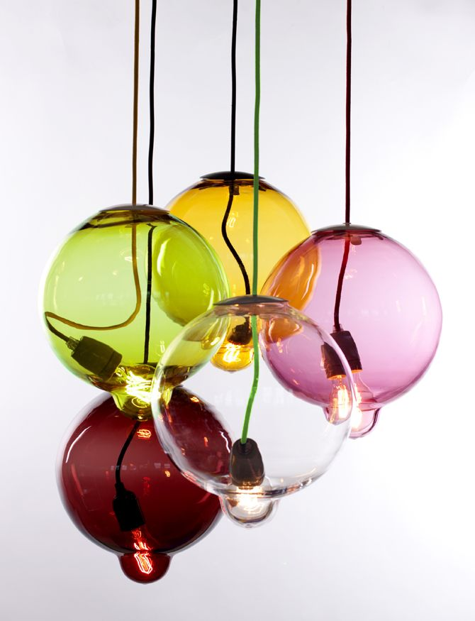 Meltdown Colorful pendant lamp / Kleurige hanglamp van Meltdown.