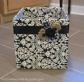 Fabric covered diaper boxes.  Storage.