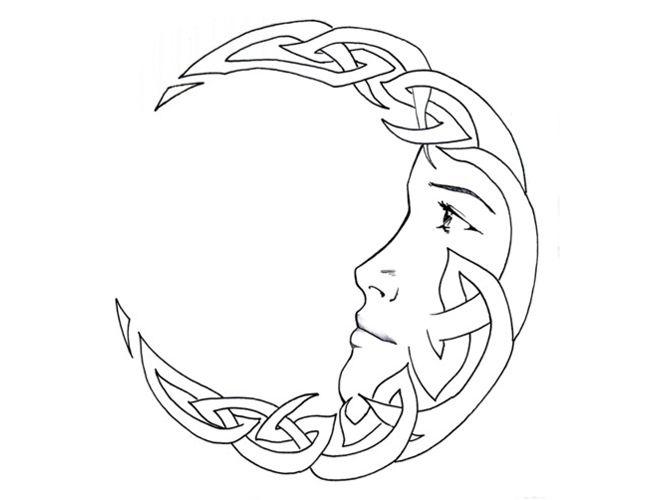 Tribal Celtic Crescent Moon Tattoo – My Tribal Ink
