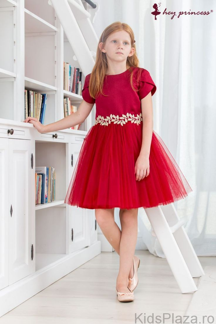 Rochie Burgundy Tull Fusion Hey Princess - Rochite ocazie fete R1060 - KidsPlaza.ro