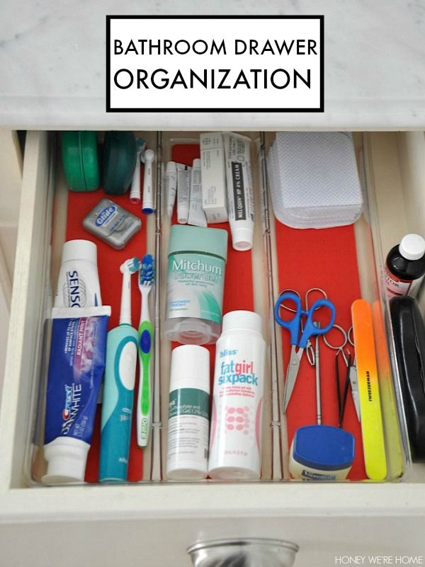 Clean & Organized Bathroom Drawers | Honey We're Home