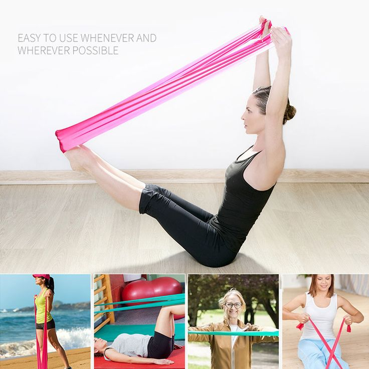 Hot 1.2m Elastic Yoga Pilates Rubber Stretch Exercise Band Arm Back Leg Fitness thickness 0.35mm same resistance
