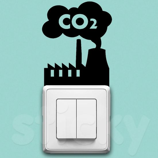 Wall Sticker CO2 by Sticky!!!
