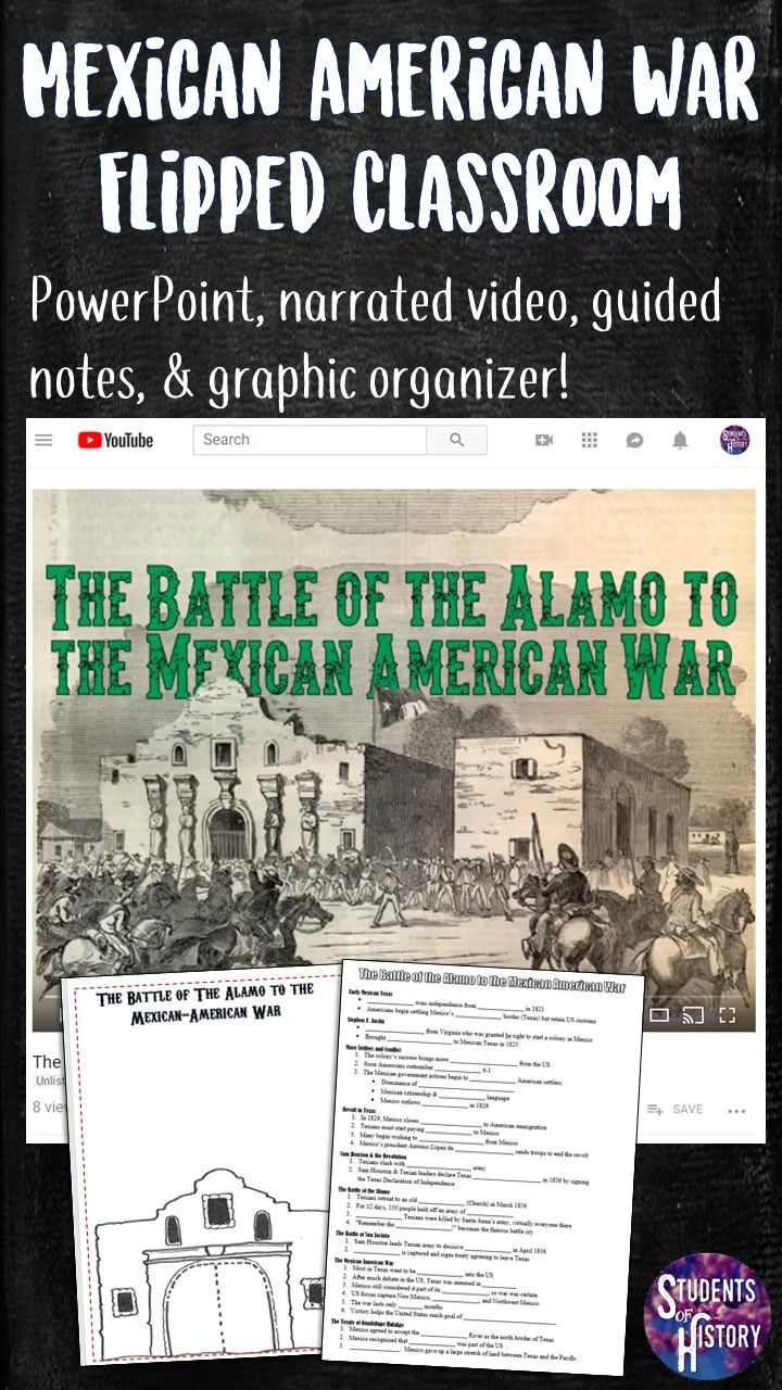 Texas Revolution, Alamo, and Mexican American War Lesson