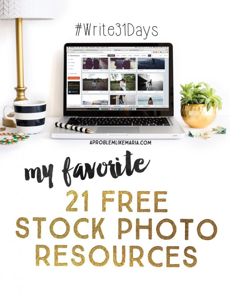 """My favorite...because you know at A Problem Like Maria there are lots of """"favorite things""""...21 free stock photo resources."""