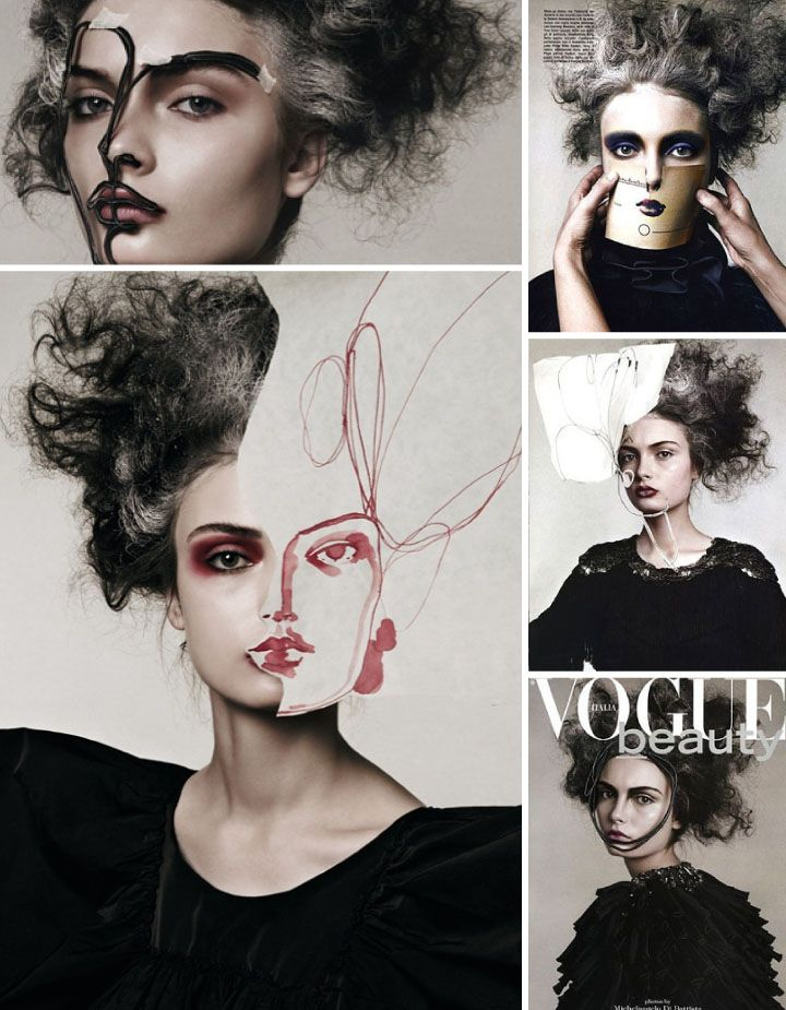 Face/Project VOGUE Italia Beauty November 2007 | Photographer Michelangelo Di Battista | Make-up artist Dotti | Hair  Malcolm Edwards | Fashion Editor Alice Gentilucci | Artwork by Tina Berning | Model Anna Marriya.