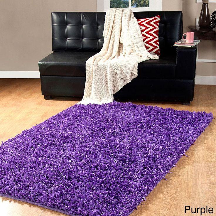 affinity home collection fancy yarns handwoven cozy shag rug 4 feet x 6 feet grey size 4u0027 x 6u0027 cotton solid