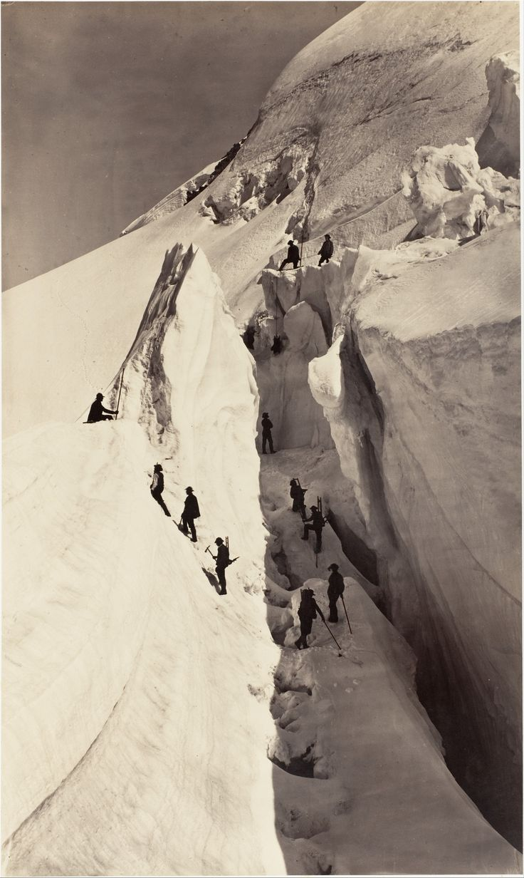 Auguste-Rosalie Bisson, The Ascent of Mont Blanc, 1861