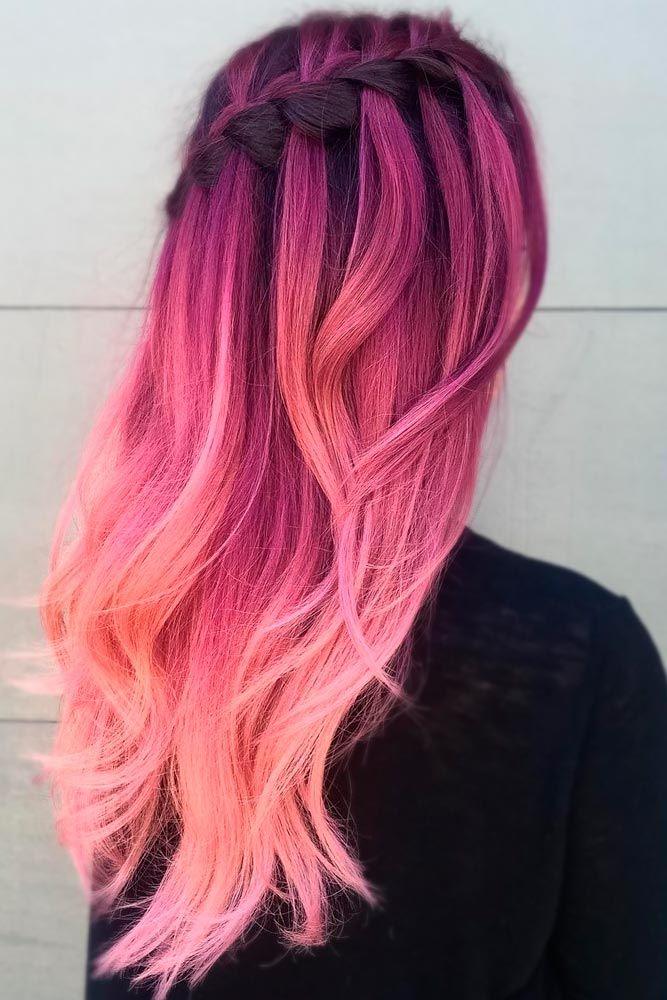 beautiful pink purple hair