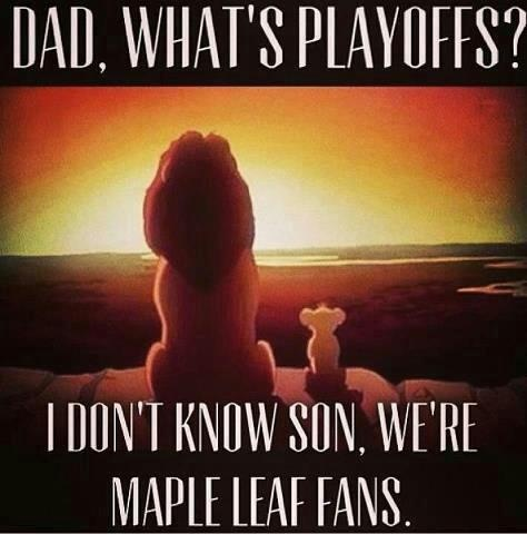 Hahaha, poor Leafs and their fans! ;)