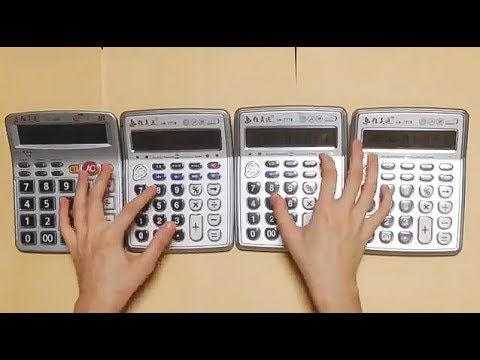 Super Mario Theme - played by Four calculators - YouTube
