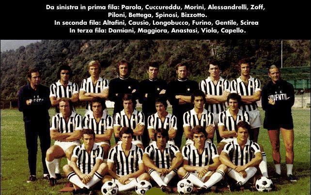 La squadra della Juventus - 1974