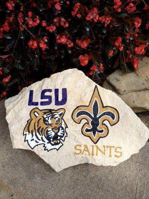 LSU & New Orleans Saints Hand Painted Decorative by themesations, $40.00