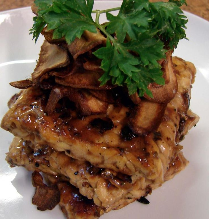 Pan Fried Tempeh with Parsnips Crisps - Easy vegan lifestyle vegan easy challenge