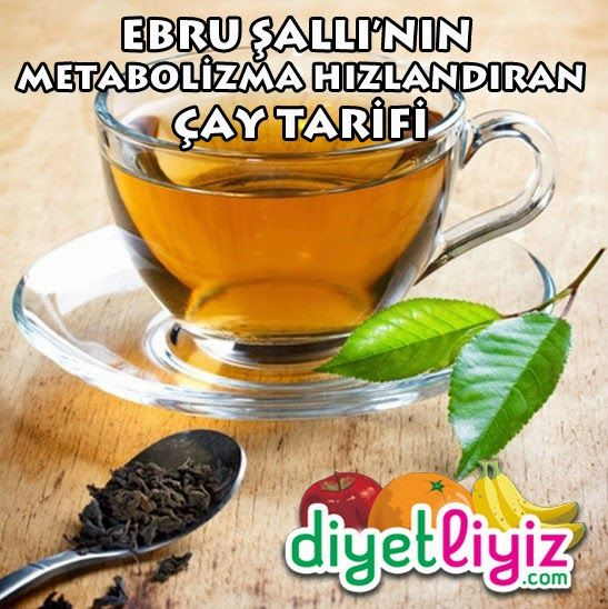 Ebru Şallı'nın metabolizma hızlandıran çay tarifi sayesinde yediklerinizi daha hızlı yakarak daha hızlı ve kolay kilo vereceksiniz !
