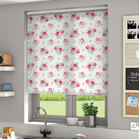 Summer Rose Damask Roller Blind