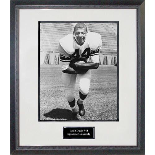 Ernie Davis With Football Framed 16x20 Photograph