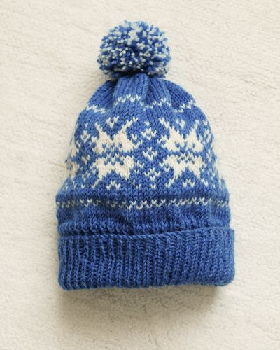 My son took a picture of a hat he'd seen in a shop window. We've been struggling a bit to get the right yarn for a sweater he wants so the hat idea is a really good interim, and of cour…