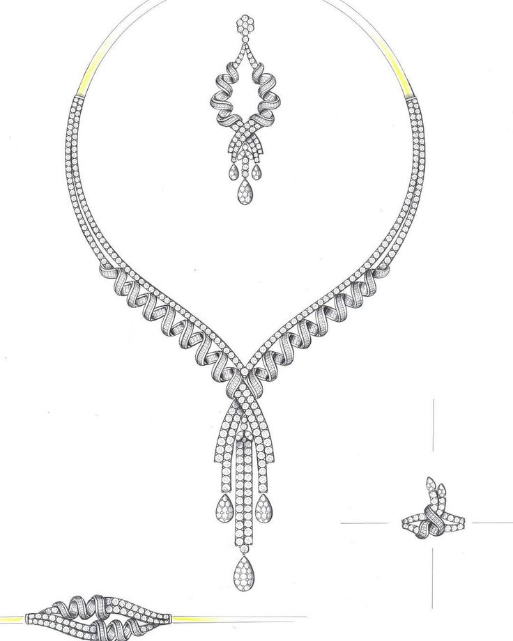 Elegant and bold | GZY | Jewelry, Necklace drawing ...