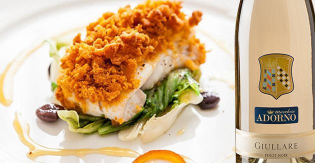 Per questo mese estivo vi vogliamo proporre ancora una volta una ricetta a base di pesce, ovvero un  filetto di orata panata agli agrumi con scarola, olive taggiasche e caramello all'arancia.  per scoprire la ricetta : http://marcheseadorno-wines.it/easyNews/NewsLeggi.asp?NewsID=45