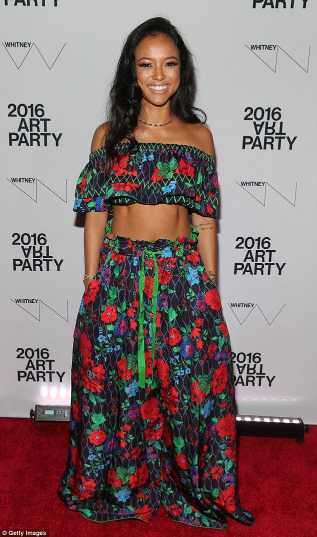 Abs-olutely fabulous: Karrueche Tran made sure to look her finest as she attended the Whitney Art Party at The Whitney Museum of American Art in New York on Tuesday night