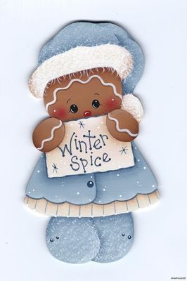 Winter Spice ginger magnet
