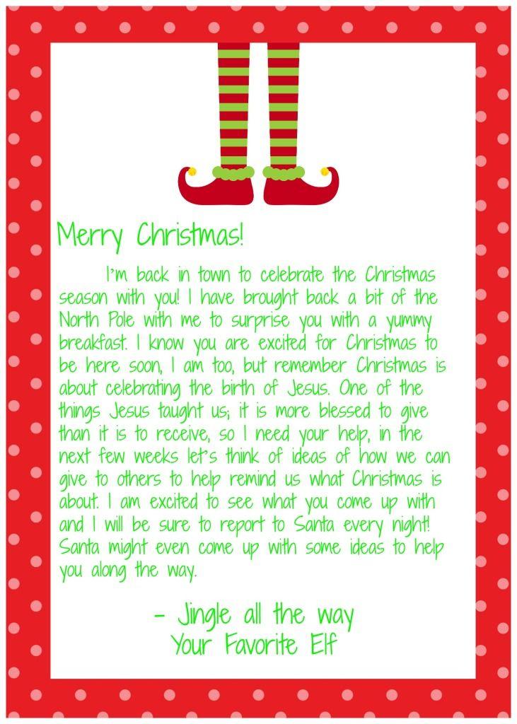 I'm back elf on the shelf letter! back letter