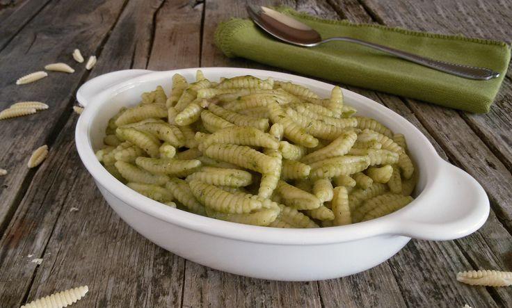 Malloreddus al pesto di zucchine e guanciale
