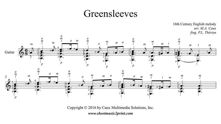 Greensleeves - Guitar
