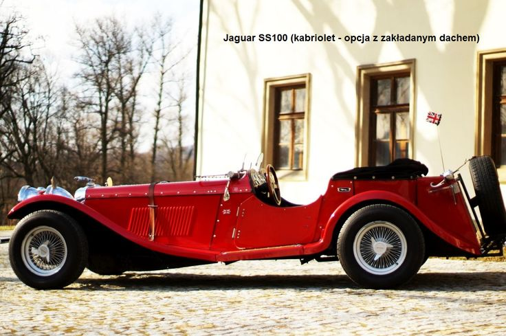 Auto do ślubu Jaguar SS100 www.fabrykaslubu.pl