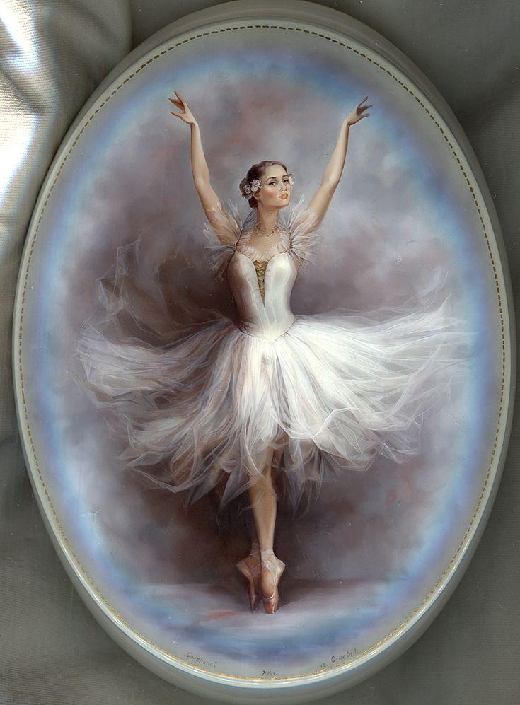 Fedoskino : Ballet Dancer Artist: Slaeva Liliana
