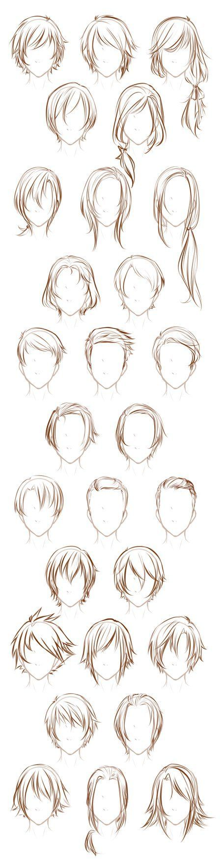 The 25 best anime hairstyles male ideas on pinterest anime hair after sketching that sheet of male poses i decided to sketch out some of my male urmus Choice Image