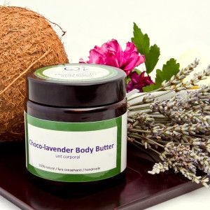 Choco-lavender body butter – unt corporal   QI COSMETICS